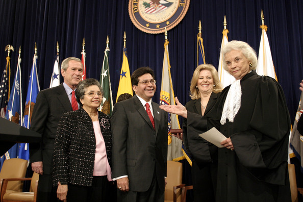 Alberto Gonzales being sworn-in as Attorney General of the Unites States