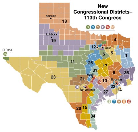In 2014 Texas GOP Will Keep Its Congressional Districts and