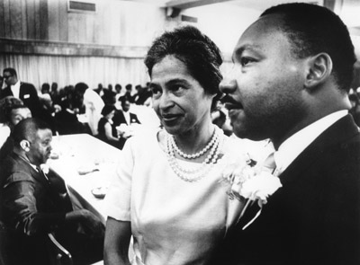 Rosa Park  with Dr. Martin Luther King, Jr.