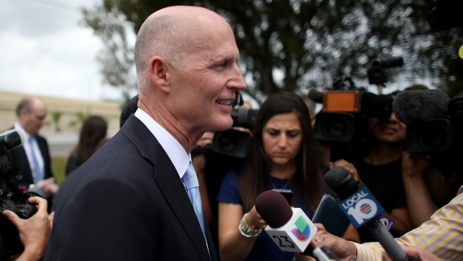 Florida Gov. Rick Scott is making a big play for Hispanic votes in 2014.