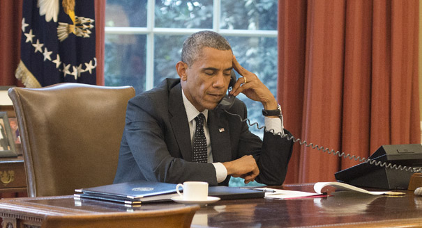 President Obama Speaks With King Abdullah II of Jordan