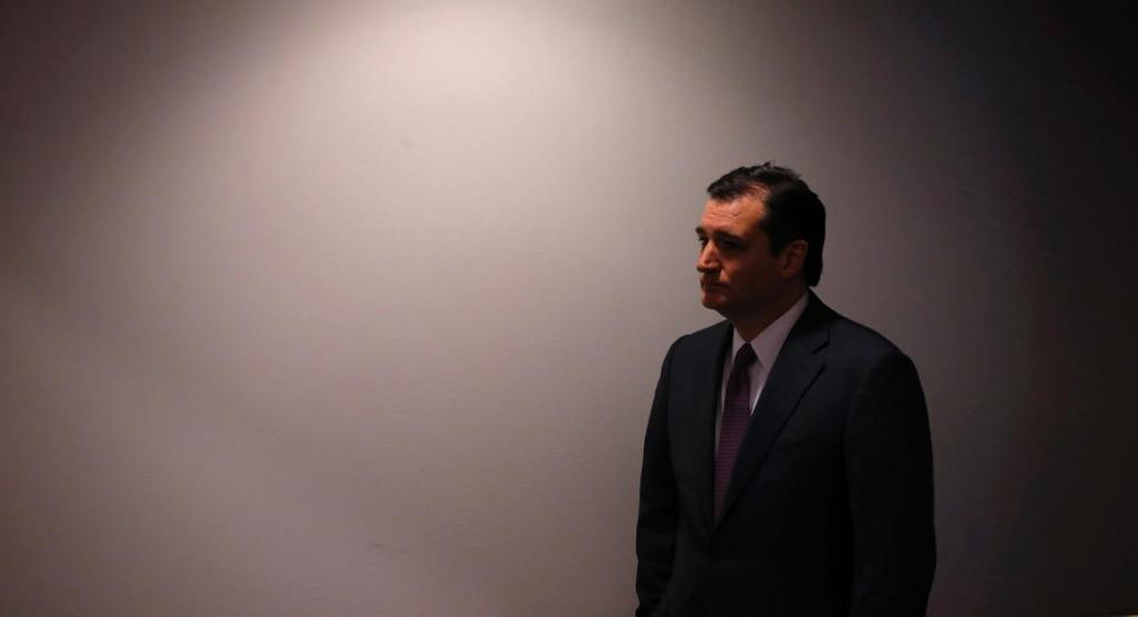 Sen. Ted Cruz, R-Texas waits off stage as he is introduced before speaking about energy at the Heritage Action for America 2014 Conservative Policy Summit at the Heritage Foundation in Washington.