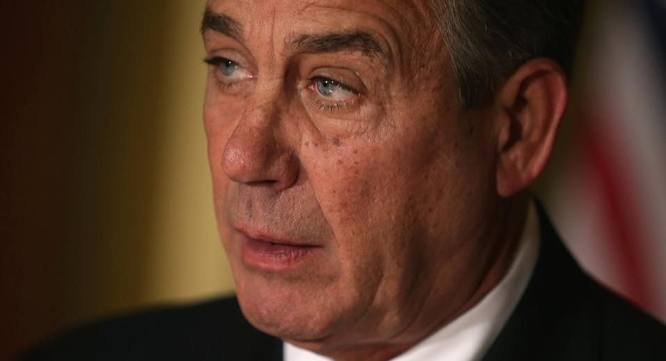 John Boehner Delivers A Statement On Obama Immigration Action At US Capitol