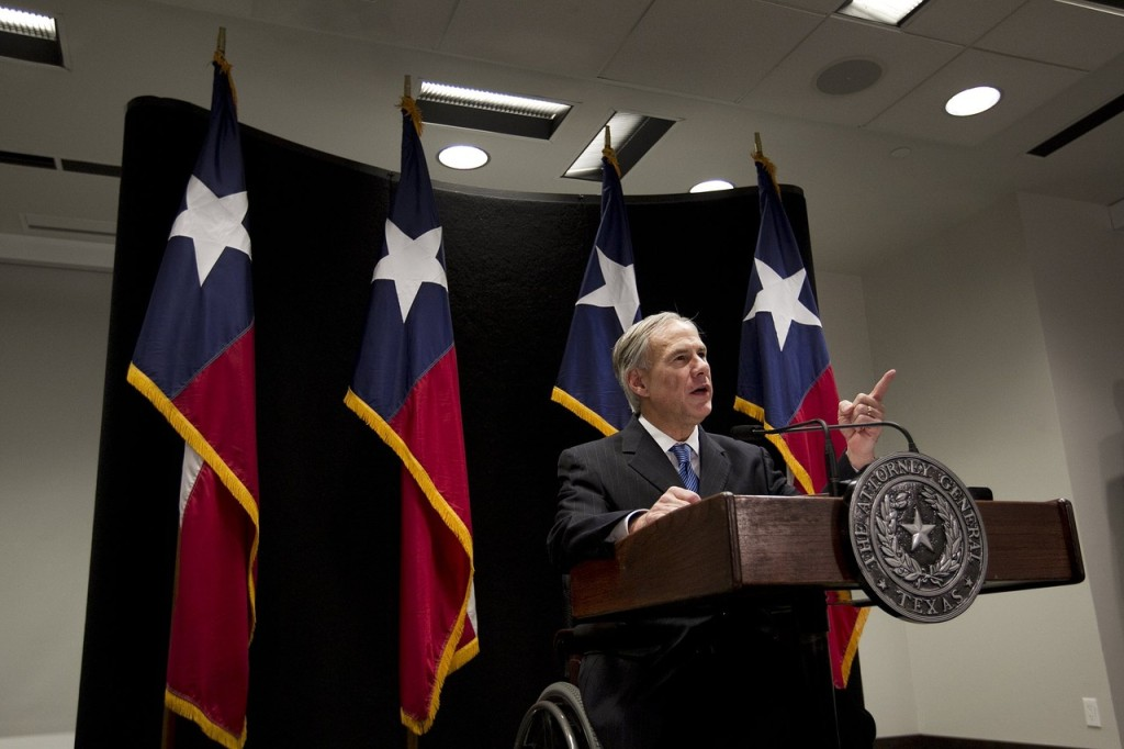 exas Gov.-elect Greg Abbott announcing a lawsuit last month against President Obama's immigration executive action/