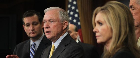 Republican Senators Ted Cruz And Jeff Sessions Hold News Conference On Immigration