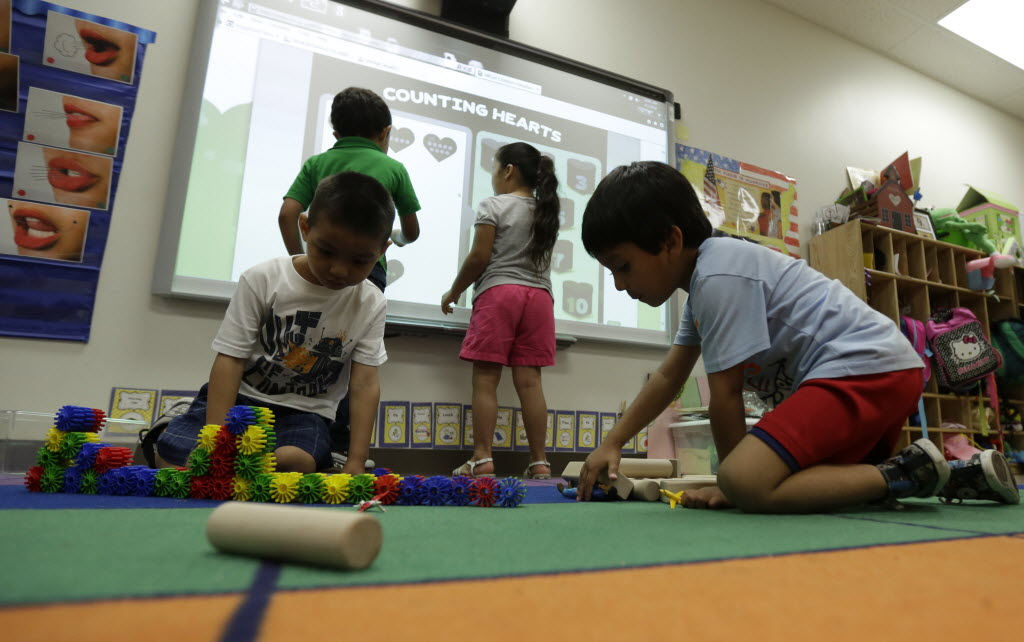 Pre-schoolers such as those pictured here last year, at a San Antonio center, will enter public schools still recovering from 2011 state budget cuts.