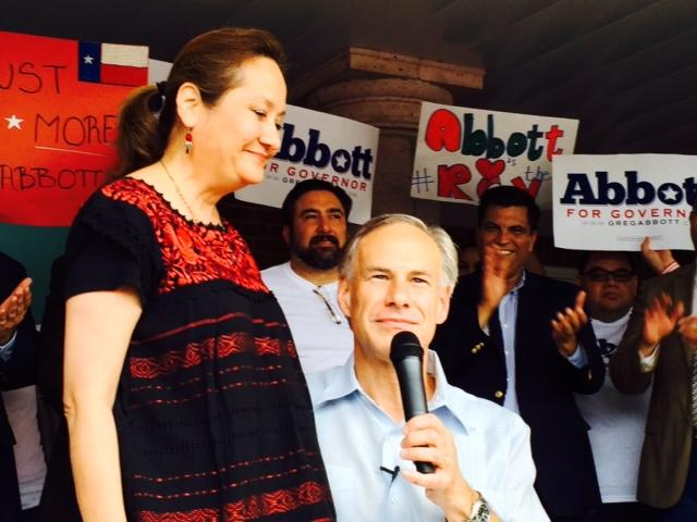 Greg Abbott introduces his wife Cecilia as the woman who will make history as the first Hispanic first lady in the history of Texas