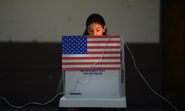 Young-woman-voter