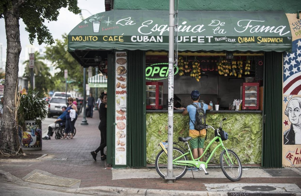 Miami-Dade County supplied President Obama with a big boost in 2012. Shown, a shop in the Little Havana neighborhood in Miami.