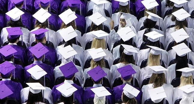 Deering High School graduation